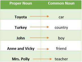 Proper noun and common noun
