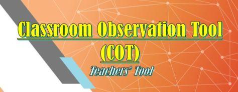 CLASSROOM OBSERVATION TOOL (COT) LOGO