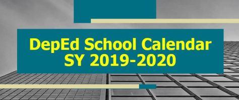 DEPED SCHOOL CALENDAR LOGO 2019-2020
